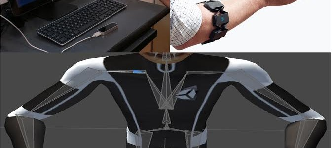 Integration of Myo Armband and Leap Motion to create a 3D full arm motion
